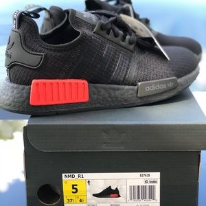 adidas Shoes | Nmd R1 Bred Blkred 2018